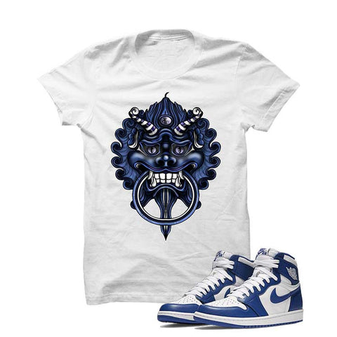 Jordan 1 High OG Storm Blue White T Shirt (Dragon)