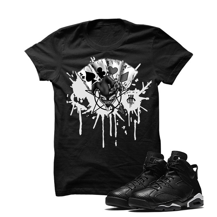 Jordan 6 Black Cat Black T Shirt (Joker Cards) - illCurrency Matching T-shirts For Sneakers and Sneaker Release Date News - 1