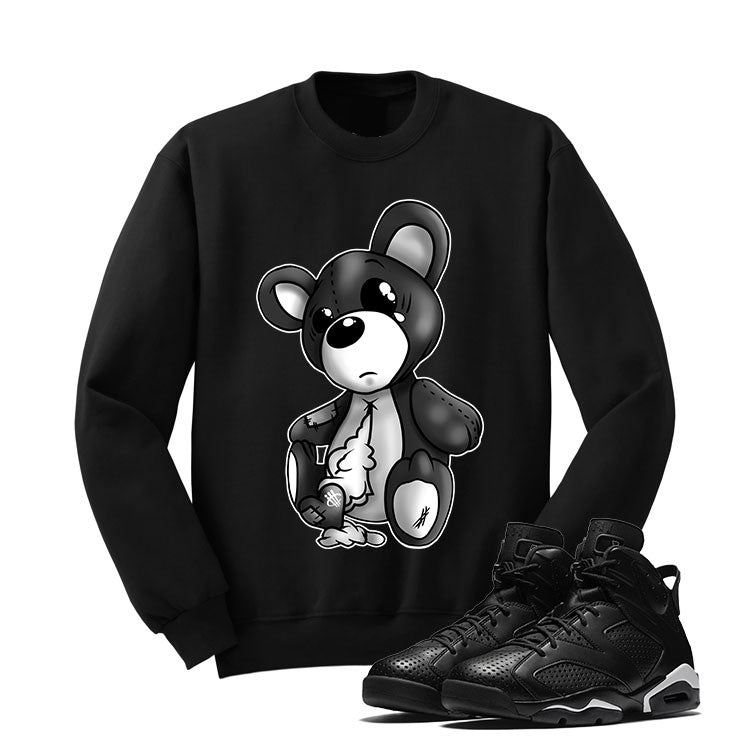 Jordan 6 Black Cat Black T Shirt (Teddy Bear) - illCurrency Matching T-shirts For Sneakers and Sneaker Release Date News - 2