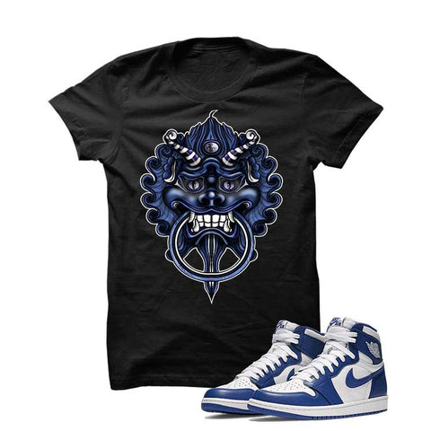 Jordan 1 High OG Storm Blue Black T Shirt (Dragon)