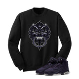 Jordan 6 Gs Dark Purple Black T Shirt (Dragon) - illCurrency Matching T-shirts For Sneakers and Sneaker Release Date News - 2