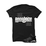 Jordan 6 Black Cat Black T Shirt (Real Recognized Real) - illCurrency Matching T-shirts For Sneakers and Sneaker Release Date News - 1