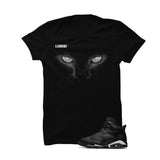 Jordan 6 Black Cat Black T Shirt (Black Cat) - illCurrency Matching T-shirts For Sneakers and Sneaker Release Date News - 1