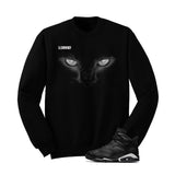 Jordan 6 Black Cat Black T Shirt (Black Cat) - illCurrency Matching T-shirts For Sneakers and Sneaker Release Date News - 2