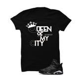 Jordan 6 Black Cat Black T Shirt (Queen Of My City) - illCurrency Matching T-shirts For Sneakers and Sneaker Release Date News - 1