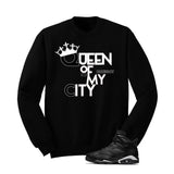 Jordan 6 Black Cat Black T Shirt (Queen Of My City) - illCurrency Matching T-shirts For Sneakers and Sneaker Release Date News - 2