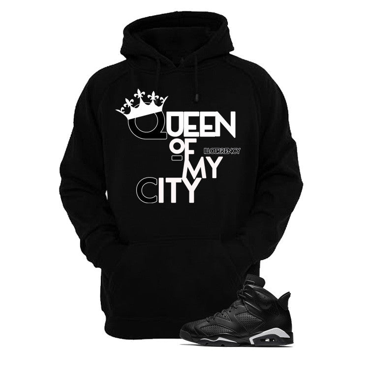Jordan 6 Black Cat Black T Shirt (Queen Of My City) - illCurrency Matching T-shirts For Sneakers and Sneaker Release Date News - 3