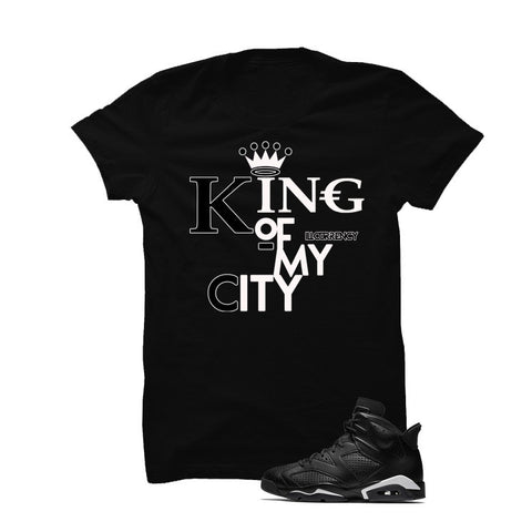 Jordan 6 Black Cat Black T Shirt (Queen Of My City)