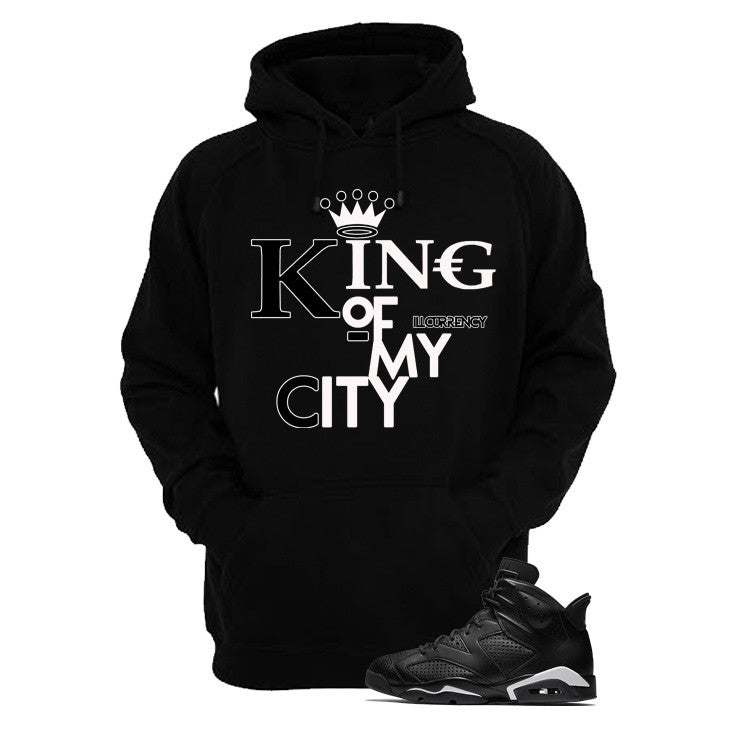 Jordan 6 Black Cat Black T Shirt (King Of My City) - illCurrency Matching T-shirts For Sneakers and Sneaker Release Date News - 3