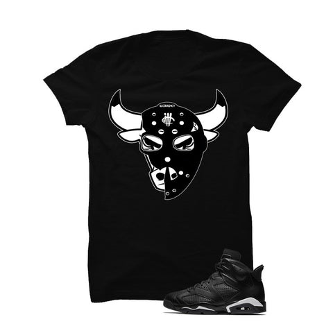 Jordan 6 Black Cat Black T Shirt (Real Recognized Real)