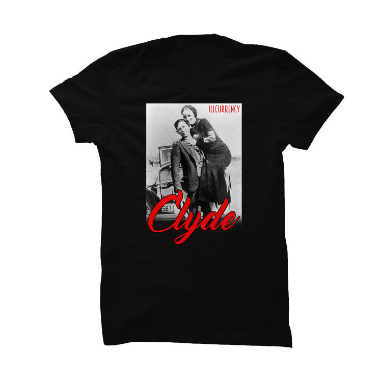 His And Hers Black T Shirt (Clyde) - illCurrency Matching T-shirts For Sneakers and Sneaker Release Date News