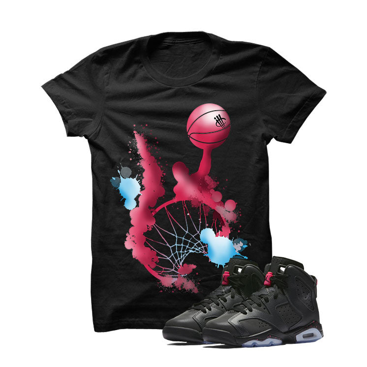 Jordan 6 Gs Hyper Pink Black T Shirt (Slam Dunk) - illCurrency Matching T-shirts For Sneakers and Sneaker Release Date News - 1