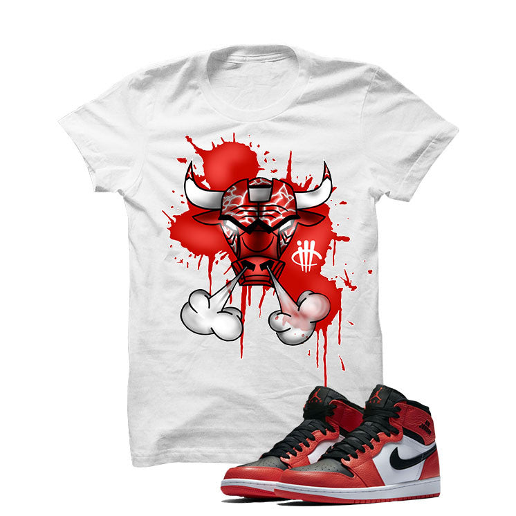 Jordan 1 Max Orange White T Shirt (Iron Bull) - illCurrency Matching T-shirts For Sneakers and Sneaker Release Date News - 1