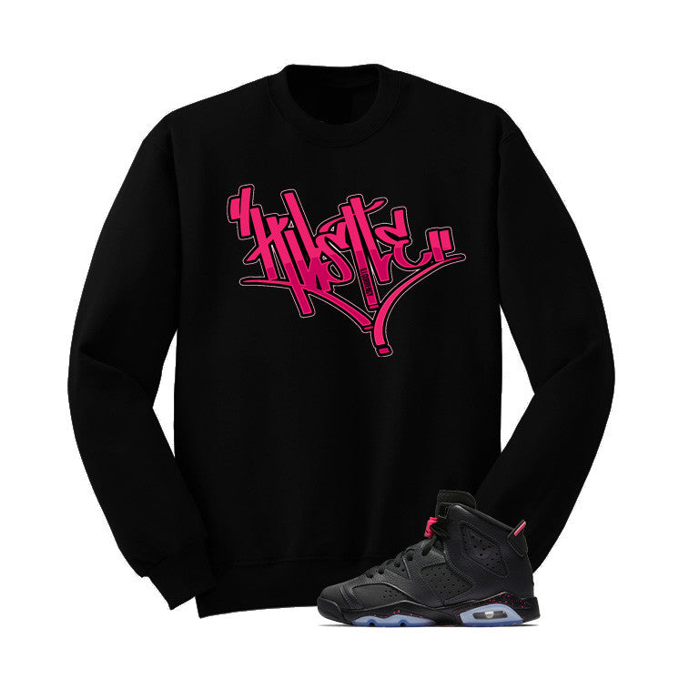 Jordan 6 Gs Hyper Pink Black T Shirt (Hustle) - illCurrency Matching T-shirts For Sneakers and Sneaker Release Date News - 2