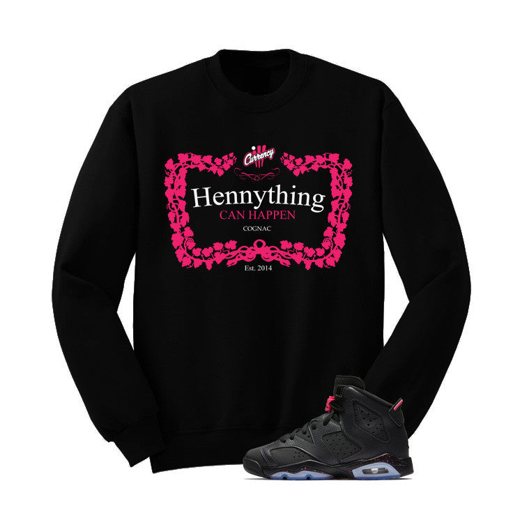 Jordan 6 Gs Hyper Pink Black T Shirt (Henny) - illCurrency Matching T-shirts For Sneakers and Sneaker Release Date News - 2