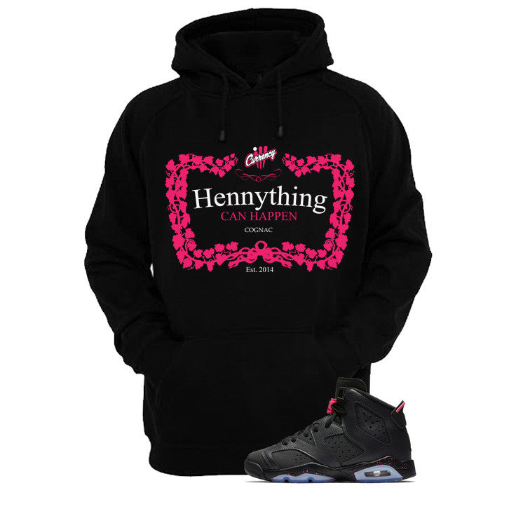 Jordan 6 Gs Hyper Pink Black T Shirt (Henny) - illCurrency Matching T-shirts For Sneakers and Sneaker Release Date News - 3