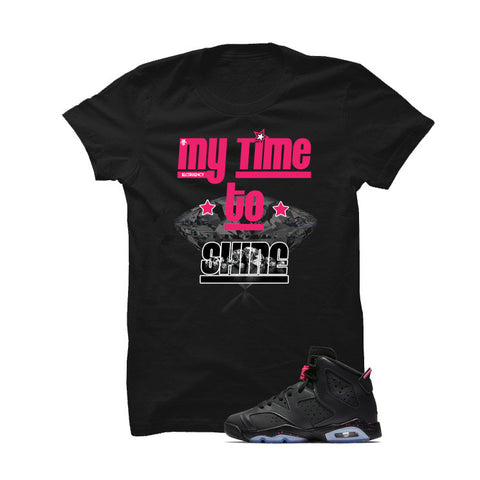 Jordan 6 Gs Hyper Pink Black T Shirt (Follow My Lead)