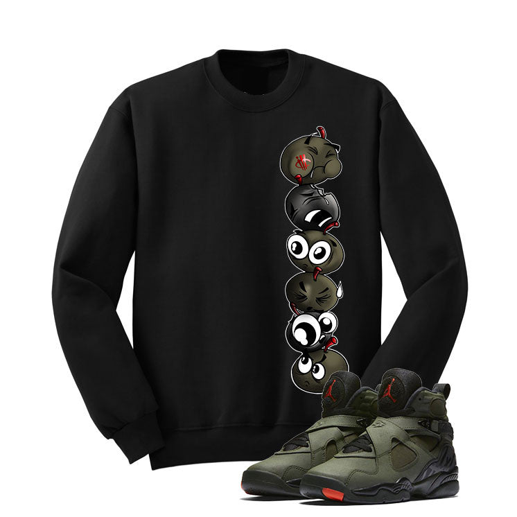 Jordan 8 Undefeated Black T Shirt (Cherry Bombs) - illCurrency Matching T-shirts For Sneakers and Sneaker Release Date News - 2