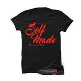 Jordan 12 Low Max Orange Black T Shirt (Self Made) - illCurrency Matching T-shirts For Sneakers and Sneaker Release Date News - 1