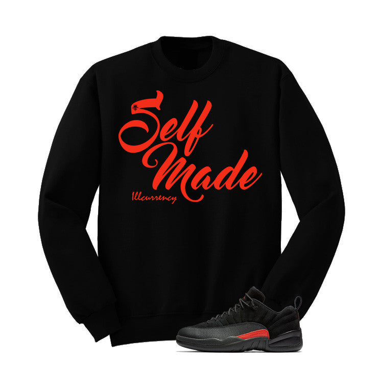 Jordan 12 Low Max Orange Black T Shirt (Self Made) - illCurrency Matching T-shirts For Sneakers and Sneaker Release Date News - 2