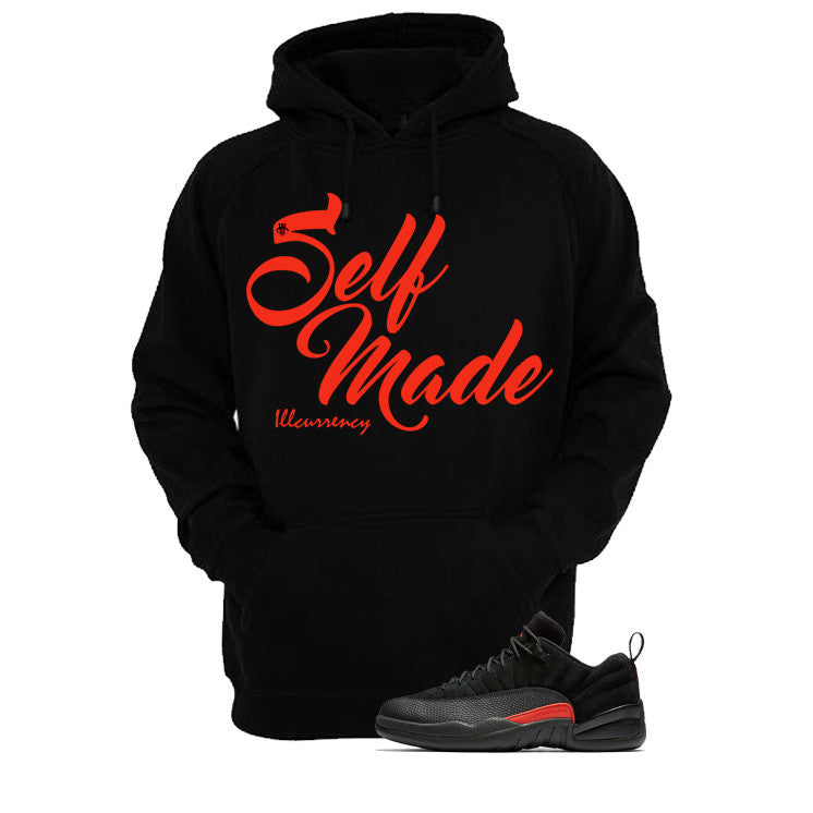 Jordan 12 Low Max Orange Black T Shirt (Self Made) - illCurrency Matching T-shirts For Sneakers and Sneaker Release Date News - 3