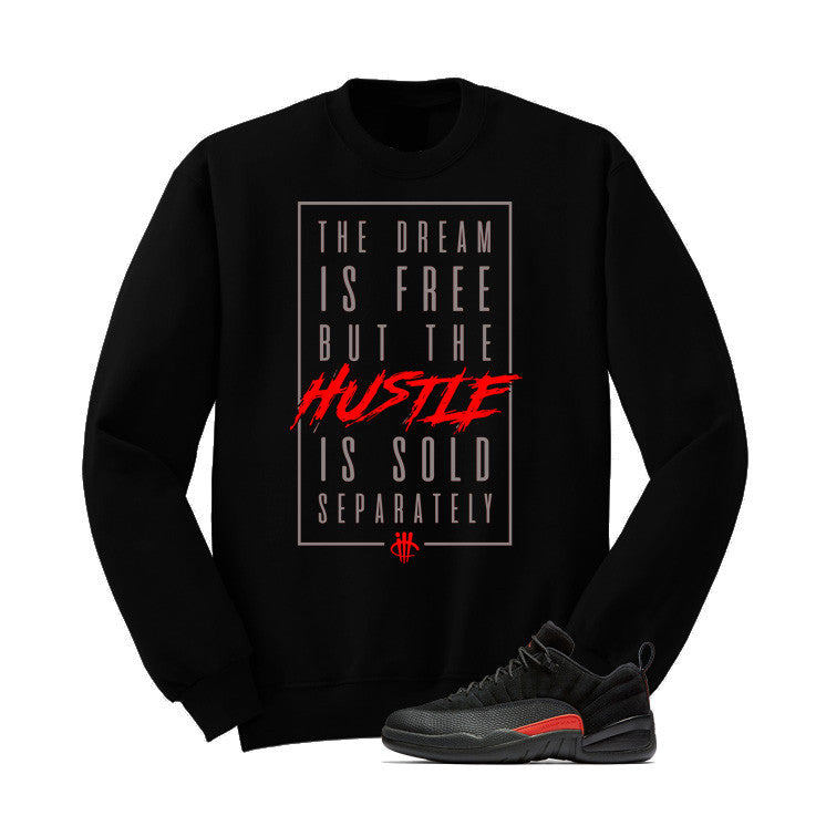 Jordan 12 Low Max Orange Black T Shirt (The Dream Is Free) - illCurrency Matching T-shirts For Sneakers and Sneaker Release Date News - 2