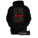 Jordan 12 Low Max Orange Black T Shirt (The Dream Is Free) - illCurrency Matching T-shirts For Sneakers and Sneaker Release Date News - 3