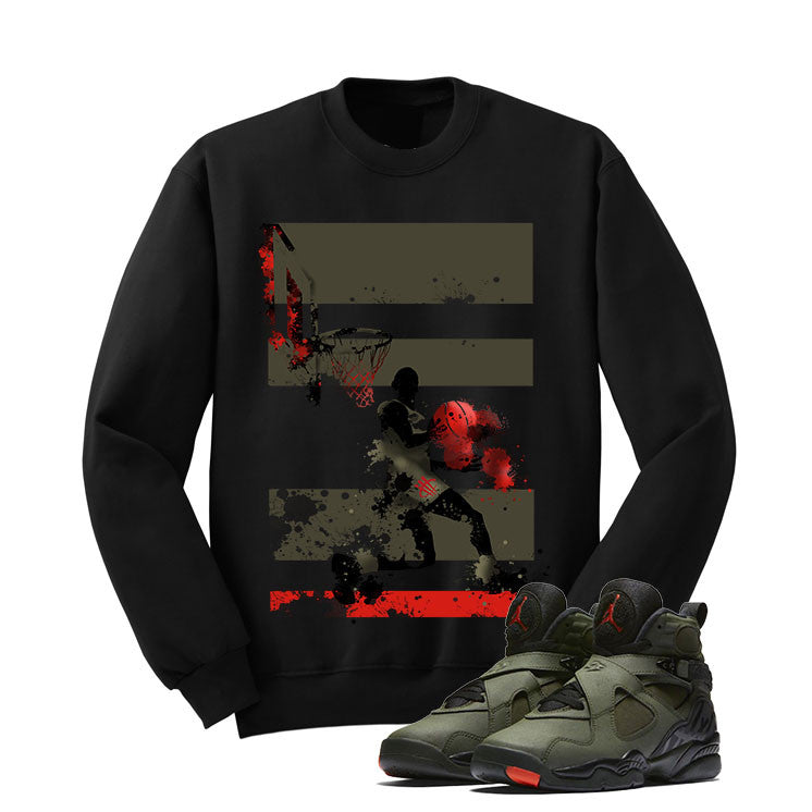 Jordan 8 Undefeated Black T Shirt (Mj Basketball) - illCurrency Matching T-shirts For Sneakers and Sneaker Release Date News - 2