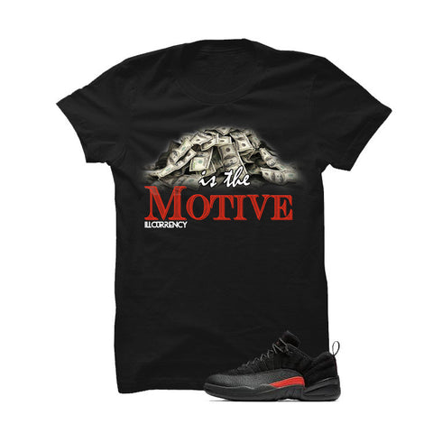 Jordan 12 Low Max Orange Black T Shirt (Self Made)