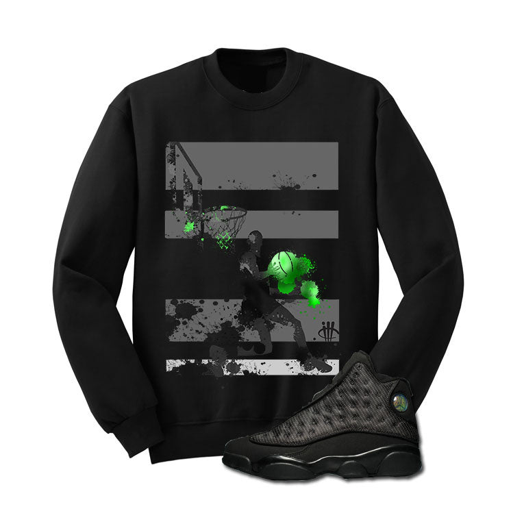 Jordan 13 Black Cat Black T Shirt (Mj Basketball) - illCurrency Matching T-shirts For Sneakers and Sneaker Release Date News - 2