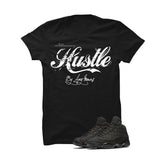 Jordan 13 Black Cat Black T Shirt (Hustle By Any Means) - illCurrency Matching T-shirts For Sneakers and Sneaker Release Date News - 1