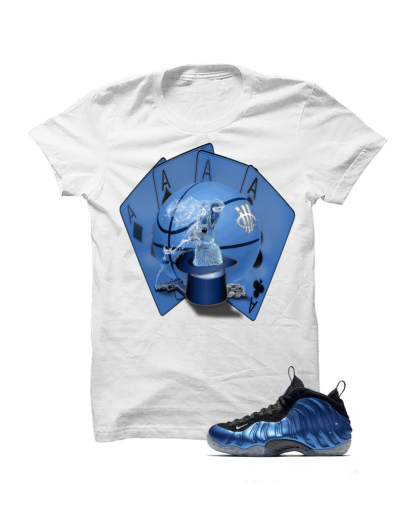 Foamposite One Og Royal White T Shirt (Aces) - illCurrency Matching T-shirts For Sneakers and Sneaker Release Date News