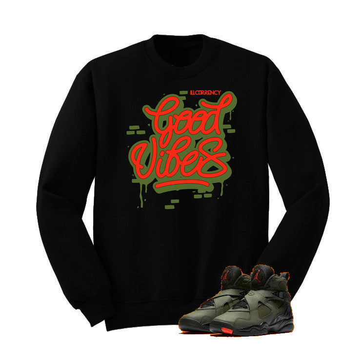 Jordan 8 Undefeated Black T Shirt (Good Vibes) - illCurrency Matching T-shirts For Sneakers and Sneaker Release Date News - 2