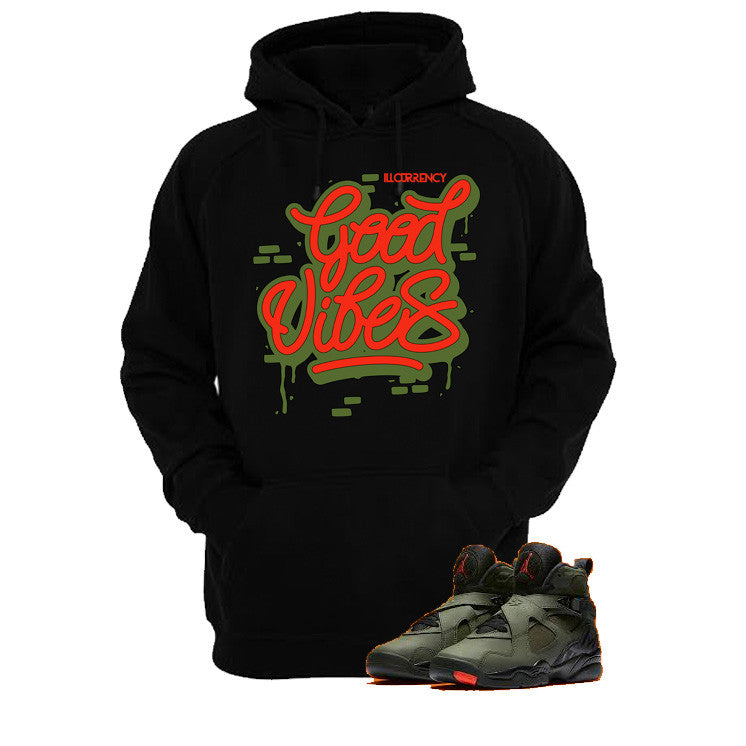 Jordan 8 Undefeated Black T Shirt (Good Vibes) - illCurrency Matching T-shirts For Sneakers and Sneaker Release Date News - 3