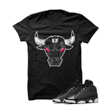 Jordan 13 Gs Hyper Pink Black T Shirt (Iron Bull) - illCurrency Matching T-shirts For Sneakers and Sneaker Release Date News - 1