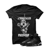 Jordan 6 Black Cat Black T Shirt (Friendship Teddy) - illCurrency Matching T-shirts For Sneakers and Sneaker Release Date News - 1