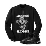Jordan 6 Black Cat Black T Shirt (Friendship Teddy) - illCurrency Matching T-shirts For Sneakers and Sneaker Release Date News - 2