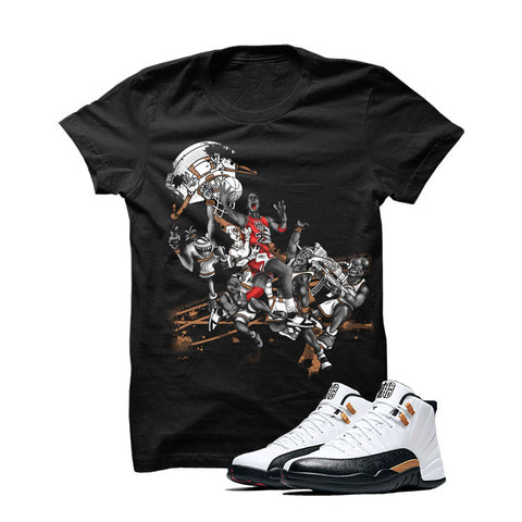 Jordan 12 Chinese New Year Black T Shirt (Alien Attack)