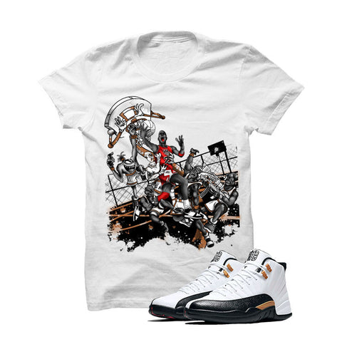 Jordan 12 Chinese New Year White T Shirt (Alien Attack)