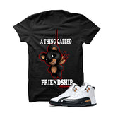Jordan 12 Chinese New Year Black T Shirt (Friendship Teddy) - illCurrency Matching T-shirts For Sneakers and Sneaker Release Date News - 1