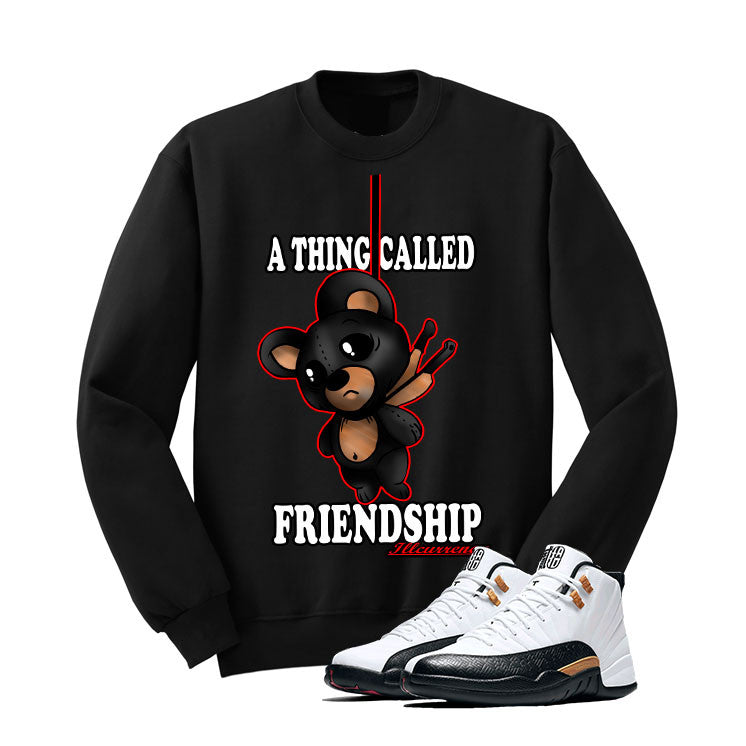 Jordan 12 Chinese New Year Black T Shirt (Friendship Teddy) - illCurrency Matching T-shirts For Sneakers and Sneaker Release Date News - 2