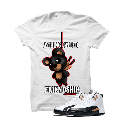 Jordan 12 Chinese New Year White T Shirt (Friendship Teddy)