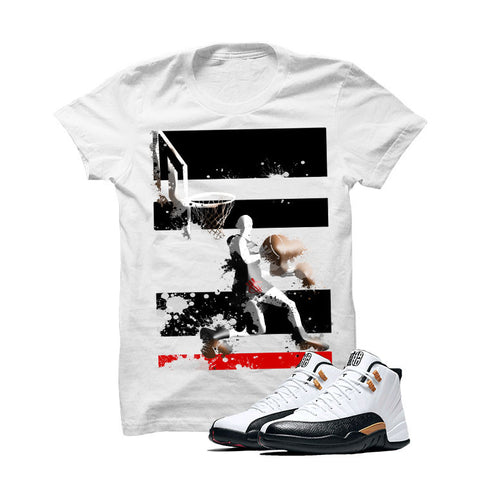 Jordan 12 Chinese New Year White T Shirt (Reverse Dunk