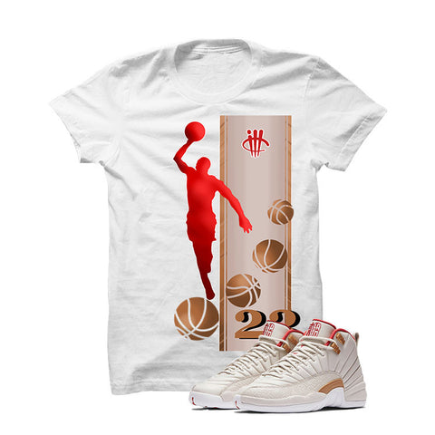 Jordan 12 CNY Gs Chinese New Year White T Shirt (ill Eye)