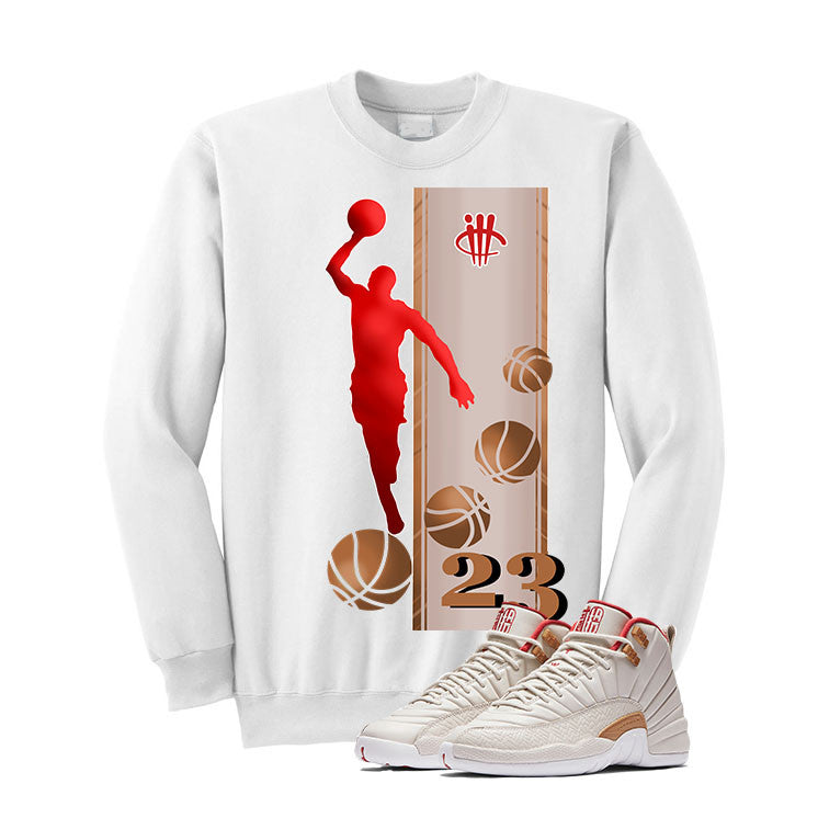 Jordan 12 CNY Gs Chinese New Year White T Shirt (Mj) - illCurrency Matching T-shirts For Sneakers and Sneaker Release Date News - 2