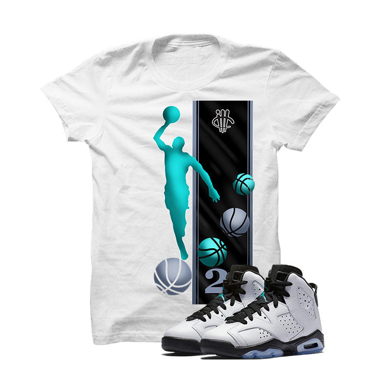 Jordan 6 Gs Hyper Jade White T Shirt (Mj) - illCurrency Matching T-shirts For Sneakers and Sneaker Release Date News - 1
