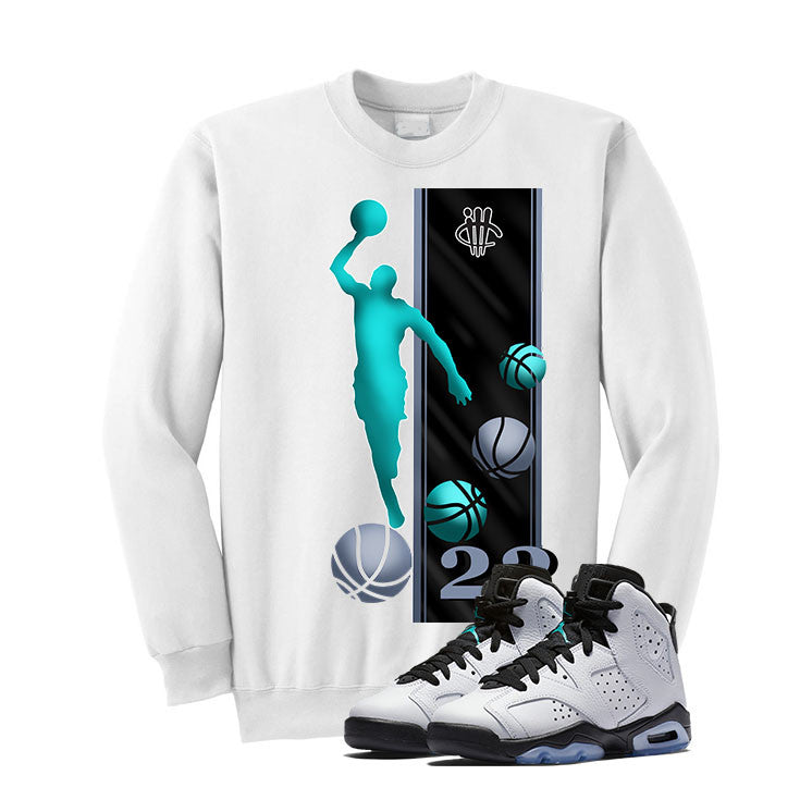 Jordan 6 Gs Hyper Jade White T Shirt (Mj) - illCurrency Matching T-shirts For Sneakers and Sneaker Release Date News - 2