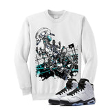 Jordan 6 Gs Hyper Jade White T Shirt (Alien Attack) - illCurrency Matching T-shirts For Sneakers and Sneaker Release Date News - 2