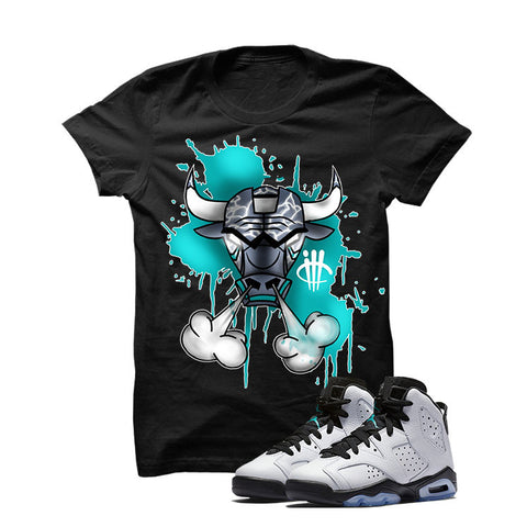 Jordan 6 Gs Hyper Jade White T Shirt (Alien Attack)