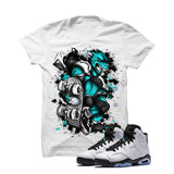 Jordan 6 Gs Hyper Jade White T Shirt (Skateboard Cat) - illCurrency Matching T-shirts For Sneakers and Sneaker Release Date News - 1